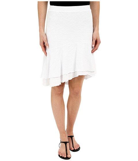 Mod-o-doc Slub Jersey Double Tiered High-Low Skirt