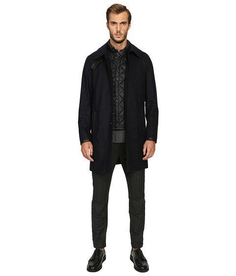 フランネル トレンチコート ウエストコート リムーバブル w the kooples flannel trenchcoat removable waistcoat コート ジャケット メンズファッション アウター