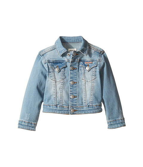 Hudson Kids Denim Jacket with Applique Banner and Embroidery (Toddler/Little Kids)