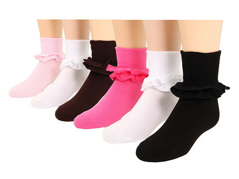 Jefferies Socks ソックス Misty 6-Pack (Toddler/Little Kid/Big Kid)