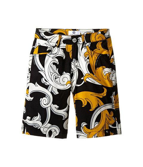 Versace Kids Macrobarocco Print Shorts ショーツ w/ Zipper & Pockets (Big Kids)