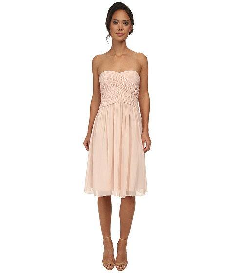 大幅値下げ Donna Morgan Anne Short Strapless Chiffon Dress
