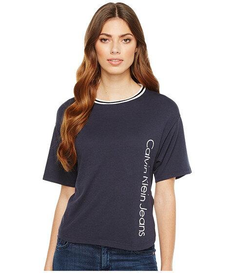 レディースファッション トップス CALVIN KLEIN JEANS パンツ SPORT STRIPE ストライプ BOY Tシャツ