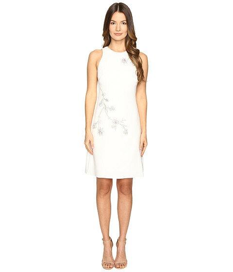 ドレス クレープ marchesa notte aline crepe floral embroidery shift dress
