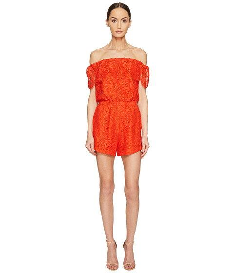 lamarque sina lace off the shoulder romper オールインワン レディースファッション サロペット