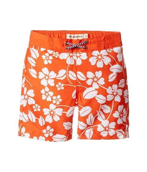 appaman kids island floral swim trunks (toddler little kids) big