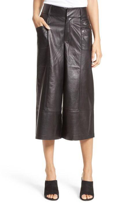 leather culottes レザー キュロット レディースファッション パンツ ボトムス