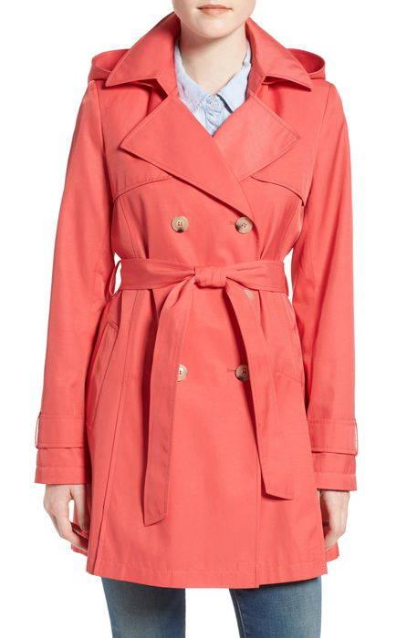 detachable hood trench coat フード トレンチ コート アウター ジャケット レディースファッション