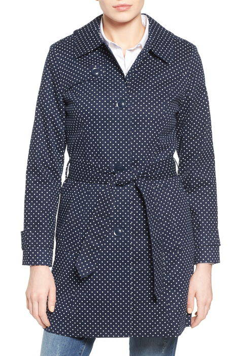 polka dot single breasted trench coat ポルカ ドット シングル ブレスト トレンチ コート アウター ジャケット レディースファッション