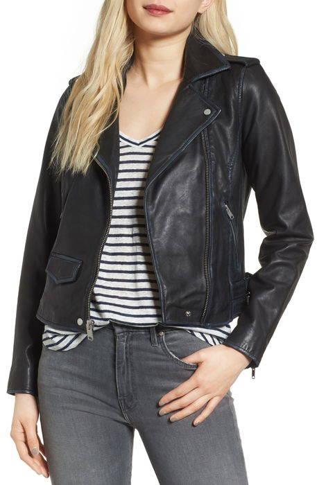 whitney washed leather crop jacket ホイットニー ウォッシュ レザー クロップ ジャケット コート アウター レディースファッション