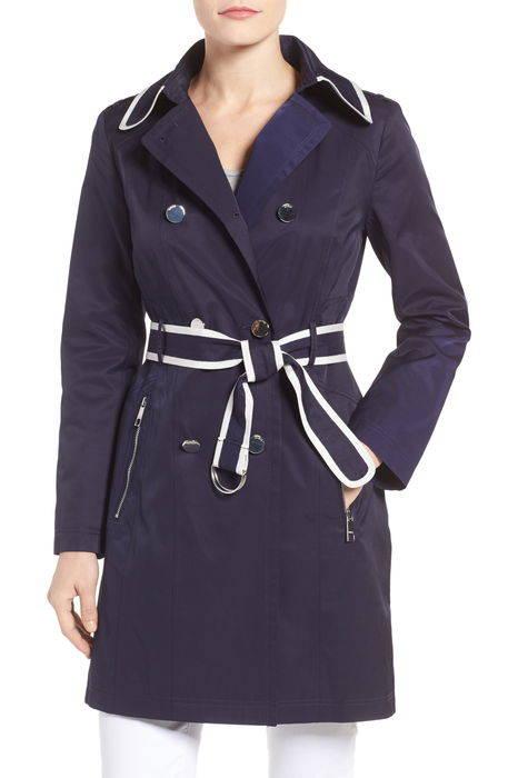 piped trench coat トレンチ コート アウター ジャケット レディースファッション