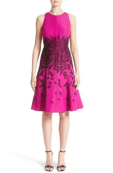 beaded fit flare dress ビーズ フィット & フレアー ドレス ワンピース レディースファッション