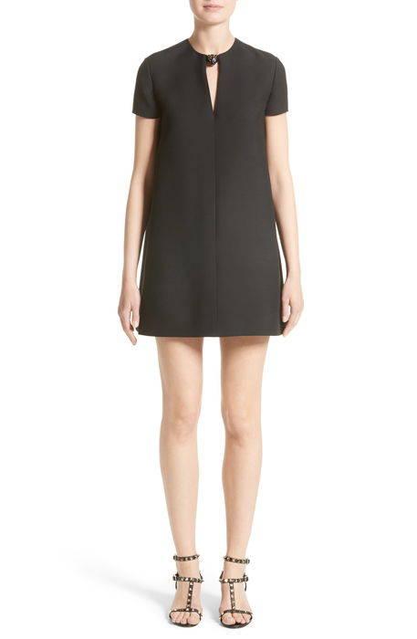 wool silk crepe shift dress ウール & シルク クレープ シフト ドレス ワンピース レディースファッション