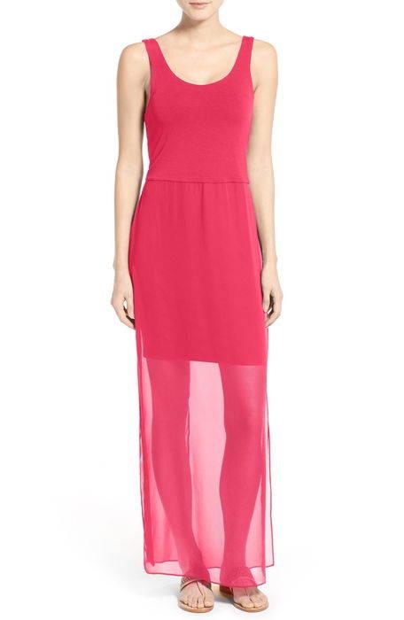 シフォン オーバーレイ タンクトップ ドレス ワンピース chiffon overlay tank dress レディースファッション