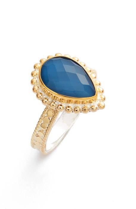 blue quartz teardrop ring 青 ブルー クウォーツ ティアドロップ リング 指輪 アクセサリー メンズジュエリー ジュエリー