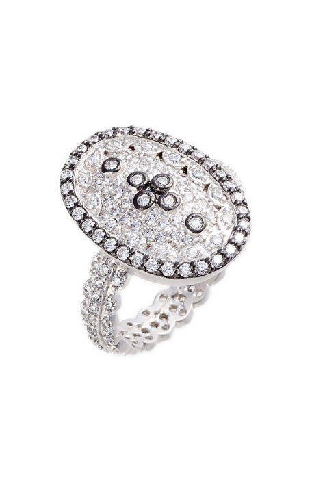 pav cubic zirconia clover ring ? キュービック クローバー リング 指輪 アクセサリー ジュエリー メンズジュエリー