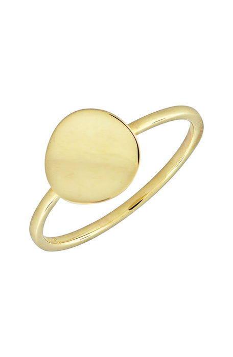 14k gold concave disc ring ゴールド 金 ディスク リング アクセサリー メンズジュエリー ジュエリー 指輪