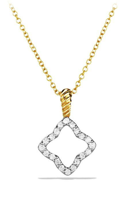 cable collectibles quatrefoil pendant with diamonds in gold on chain ' ペンダント イン ゴールド 金 cha チェイン ジュエリー ネックレス メンズジュエリー アクセサリー