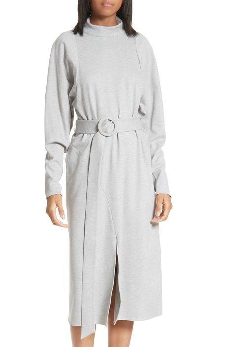 dolman sleeve stretch twill midi dress ドルマン スリーブ ストレッチ ツイル ミディ ドレス ワンピース レディースファッション