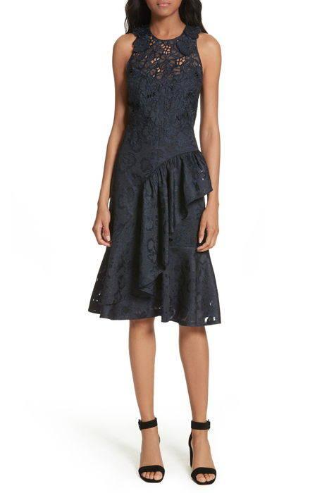 aly floral lace jacquard dress アリー フローラル レース & ジャガード ドレス ワンピース レディースファッション