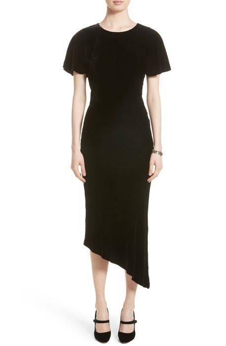 asymmetrical velvet dress ベルベット ドレス ワンピース レディースファッション