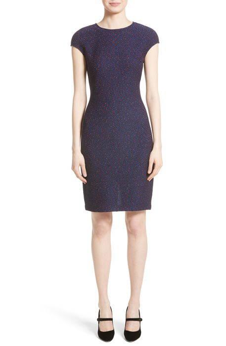 broken chevron knit sheath dress ブロークン シェブロン ニット ドレス ワンピース レディースファッション