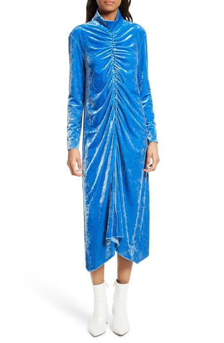 stretch velvet midi dress ストレッチ ベルベット ミディ ドレス ワンピース レディースファッション