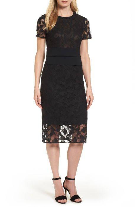 denela lace sheath dress レース ドレス ワンピース レディースファッション