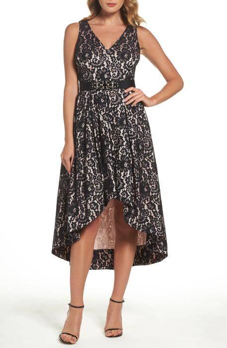 belted lace highlow dress ベルティッド レース high low ドレス ワンピース レディースファッション