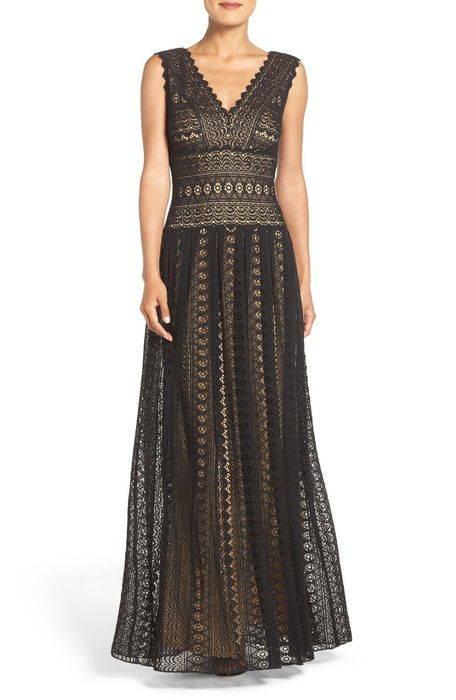 crochet lace fit flare gown レース フィット & フレアー ガウン レディースファッション ドレス