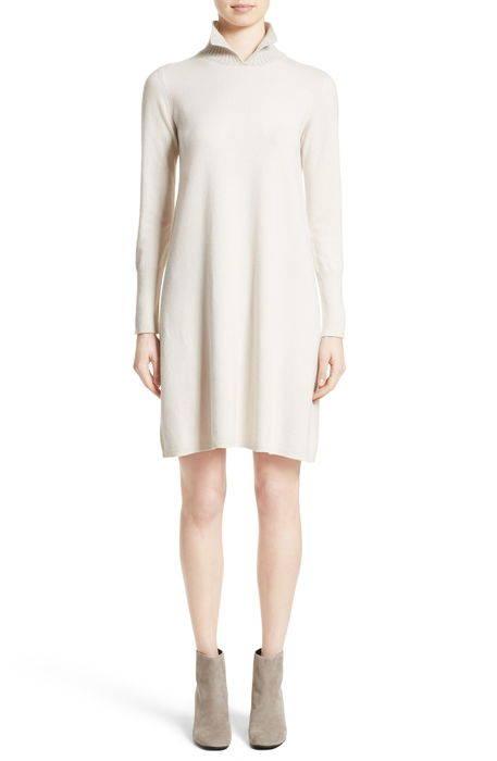 wool silk cashmere knit dress , シルク & カシミヤ ニット ドレス ワンピース レディースファッション