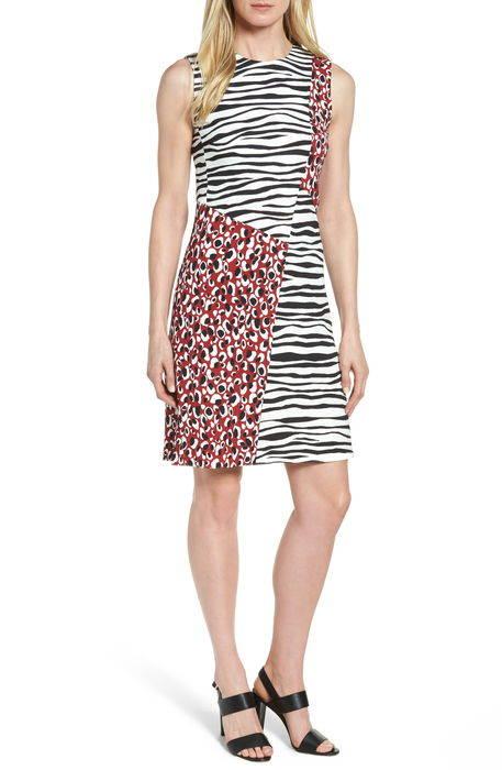 diseba animal print sheath dress アニマル プリント ドレス ワンピース レディースファッション