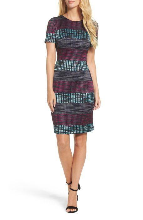 ombr knit sheath dress ? ニット ドレス ワンピース レディースファッション