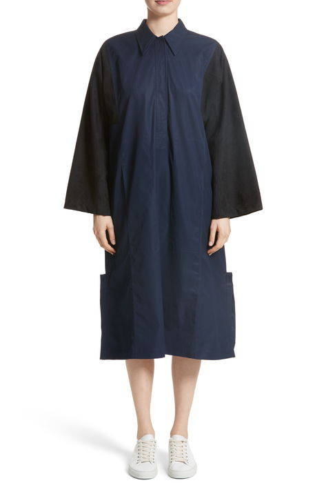 mixed media shirt dress ミックス メディア シャツ ドレス ワンピース レディースファッション