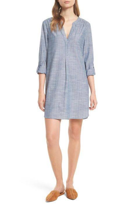 alannie stripe cotton shift dress ストライプ コットン シフト ドレス ワンピース レディースファッション
