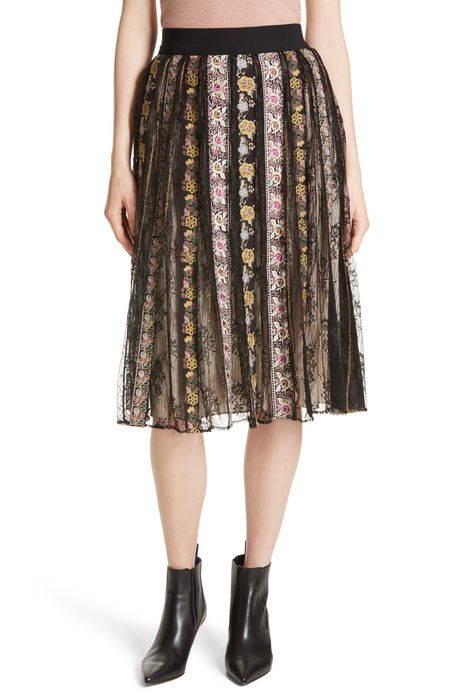 birdie flower embroidered skirt フラワー スカート レディースファッション ドレス