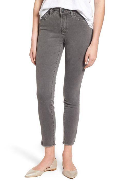 ami frayed hem stretch skinny ankle jeans アミ ヘム ストレッチ スキニー アンクル パンツ レディースファッション ボトムス