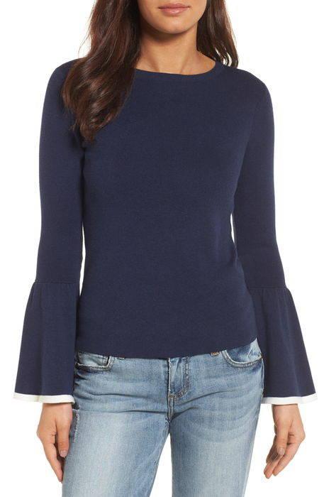 flare sleeve sweater フレアー スリーブ セーター トップス レディースファッション ニット