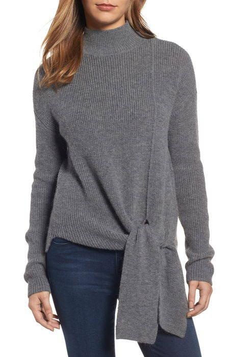 tie hem sweater ネクタイ ヘム セーター トップス レディースファッション ニット
