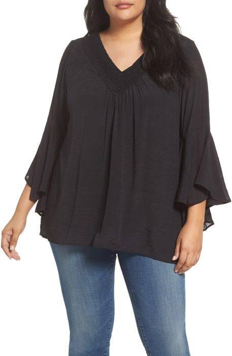 bell sleeve peasant blouse ベル スリーブ ブラウス トップス シャツ レディースファッション