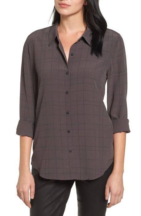 windowpane classic collar shirt クラシック シャツ ブラウス トップス レディースファッション