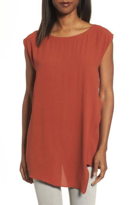 asymmetrical silk tunic シルク トップス ブラウス シャツ レディースファッション