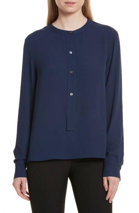 isalva classic georgette silk blouse クラシック ジョーゼット シルク ブラウス レディースファッション トップス シャツ