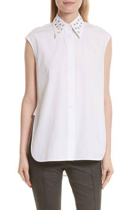 eyelet cotton poplin shirt コットン ポプリン シャツ レディースファッション ブラウス トップス