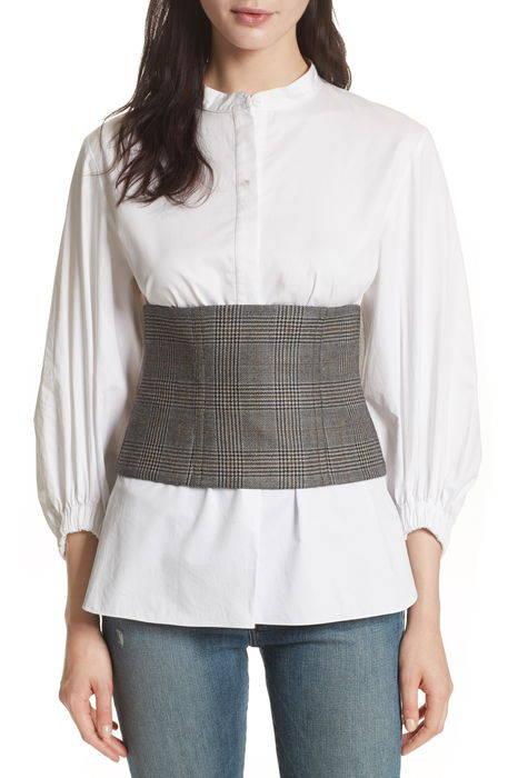 chester glen plaid wool corset チェスター ウール コルセット シャツ レディースファッション トップス ブラウス