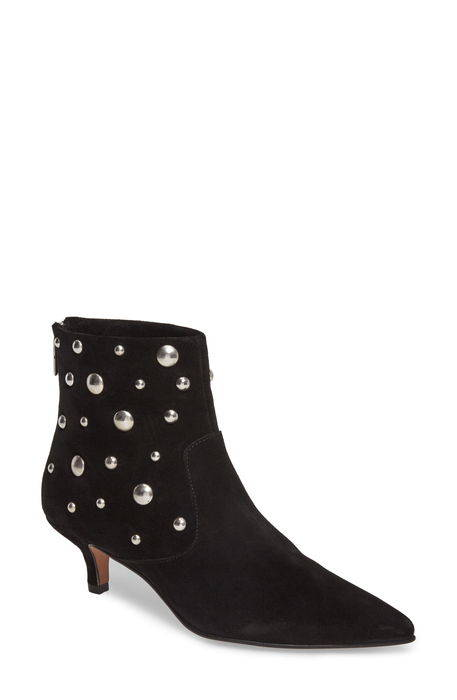 ascot studded pointy toe bootie スタッズ トー 靴 ブーティ レディース靴