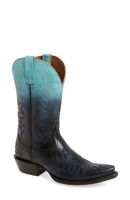 ombre x toe western boot オンブル トー ウェスタン ブーツ レディース� �