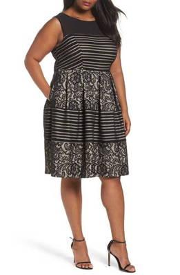 レース フィット フレアー ドレス ワンピース & sequin lace fit flare dress レディースファッション