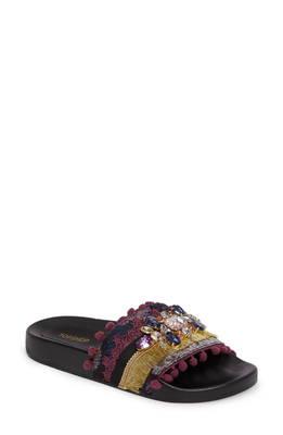 ヒーロー スライド サンダル hero embellished slide sandal 靴 スリッポン レディース靴