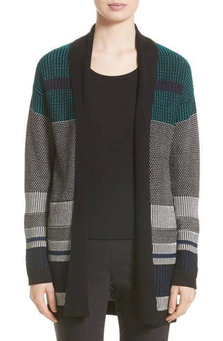 engineered inlay stitch knit cardigan エンジニアリング インレイ ステッチ ニット カーディガン トップス セーター レディースファッション